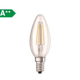Lampadina Filamento LED E14 candela bianco caldo 4.0W = 470LM (equiv 40W) 300.0° OSRAM
