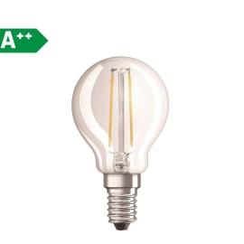 Lampadina Filamento LED E14 sferico bianco caldo 2.5W = 250LM (equiv 25W) 320° OSRAM