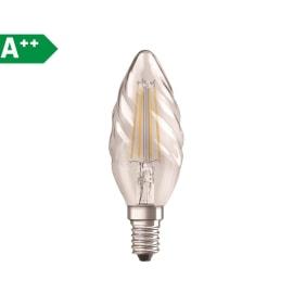Lampadina Filamento LED E14 torciglione bianco caldo 4.0W = 470LM (equiv 40W) 300.0° OSRAM