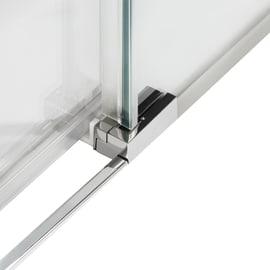 Box doccia semicircolare battente Neo 99.5 x 100 cm, H 201.7 cm in alluminio e vetro, spessore 6 mm serigrafato nero