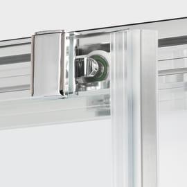 Porta doccia scorrevole Namara 130 cm, H 195 cm in vetro temprato, spessore 8 mm trasparente argento