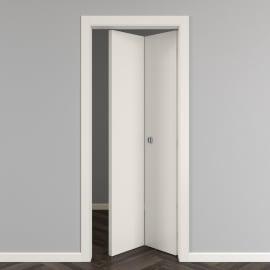 Porta pieghevole Strauss bianco L 80 x H 210 cm reversibile