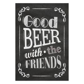 Quadro su tela Beer Friends Gesso 24x35 cm