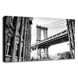 Quadro su tela Brooklyn 60x90 cm