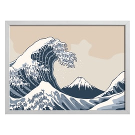 Quadro con cornice Hokusai 65x85 cm