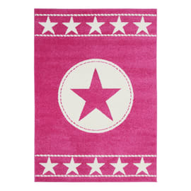 Tappeto Star kids rosa 170x115 cm