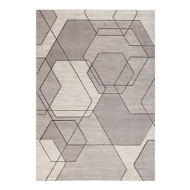 Tappeto Carve Exagon beige 160x230 cm