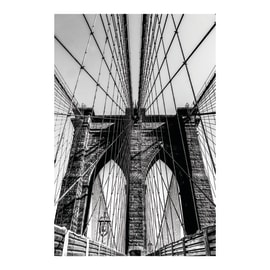 Quadro su tela Brooklyn Bridge 115x75 cm