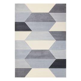 Tappeto Carve Geometric grigio chiaro e beige 160x230 cm