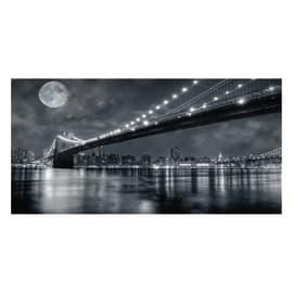 Quadro su tela Brooklyn Bridge At Night 180x80 cm