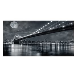 Quadro su tela Brooklyn Bridge At Night 100x50 cm