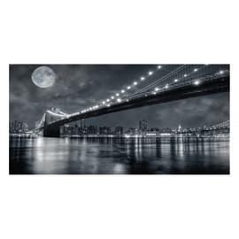 Quadro su tela Brooklyn Bridge At Night 60x30 cm