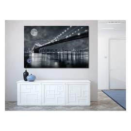 Quadro su tela Brooklyn Bridge At Night 115x75 cm