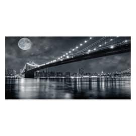 Quadro su tela Brooklyn Bridge At Night 120x60 cm