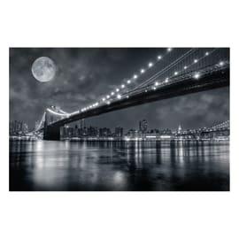 Quadro su tela Brooklyn Bridge At Night 145x95 cm