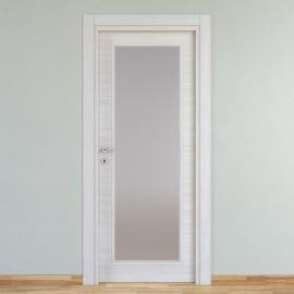 Porta a battente Pigalle palissandro bianco L 70 x H 210 cm reversibile