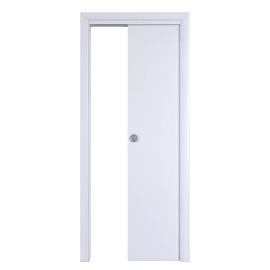 Porta scorrevole a scomparsa Pearl bianco L 60 x H 210 cm reversibile