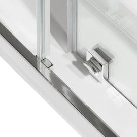 Porta doccia scorrevole Record 125 cm, H 195 cm in vetro temprato, spessore 6 mm trasparente argento