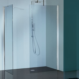 Doccia walk in L 96, H 193 cm, vetro 6 mm trasparente cromato