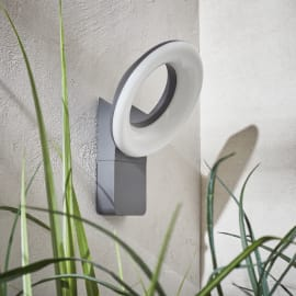 Applique Quito LED integrato in alluminio, grigio, 16W 1100LM IP54 INSPIRE