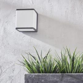 Applique Telin LED integrato in alluminio, grigio, 14.5W 1250LM IP54 INSPIRE
