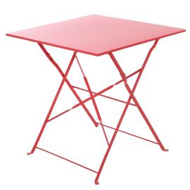 Tavolo da pranzo per giardino quadrata Flora NATERIAL con piano in acciaio L 70 x P 70 cm