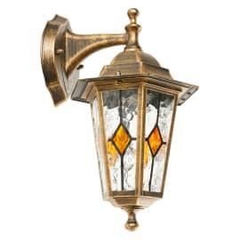 Applique per giardino Tiffany in alluminio, oro anticato, E27 MAX60W IP44 INSPIRE