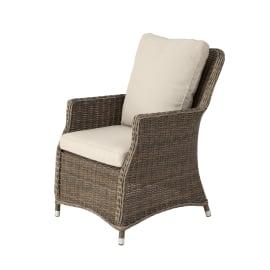 Sedia con braccioli NATERIAL in alluminio colore naturale