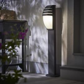 Lampioncino Pittsburgh H99cm in alluminio, grigio, E27 1xMAX100W IP44 INSPIRE