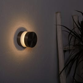 Applique Waldo LED integrato in acciaio inossidabile, inox, 6W 680LM IP44 INSPIRE