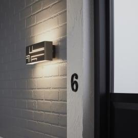 Applique Strip LED integrato in alluminio, inox, 9.5W 1000LM IP54 INSPIRE