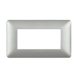 Placca BTICINO Matix 4 moduli silver