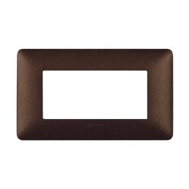 Placca BTICINO Matix 4 moduli marrone caffè