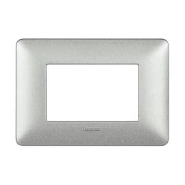 Placca BTICINO Matix 3 moduli bianco calce