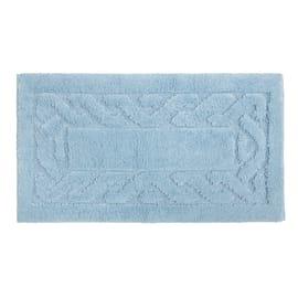 Tappeto bagno Dalì in 100% cotone azzurro 110 x 55 cm