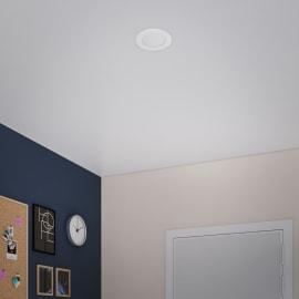 Faretto fisso da incasso tondo Flat in plastica, bianco, diam. 5.5 cm LED integrato 5W 450LM IP20