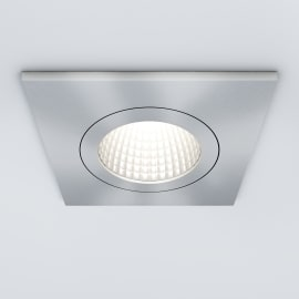 Faretto orientabile da incasso quadrato Dennis in alluminio, nichel, 5.5x8.2cm LED integrato 7W 770LM IP23 INSPIRE
