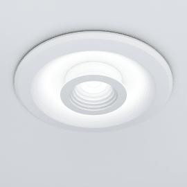 Faretto fisso da incasso tondo Liguria in alluminio, bianco, diam. 22.5 cm LED integrato 24W 2400LM IP20 INSPIRE