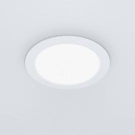 Faretto fisso da incasso tondo Flat in plastica, bianco, diam. 22.5 cm LED integrato 13W 1400LM IP20