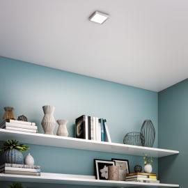 Faretto fisso da incasso quadrato Manoa in metallo, alluminio, 12.2x12.2cm LED integrato 9W 1000LM IP44 INSPIRE