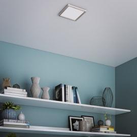 Faretto fisso da incasso quadrato Manoa in metallo, alluminio, LED integrato 22W 2660LM IP44 INSPIRE