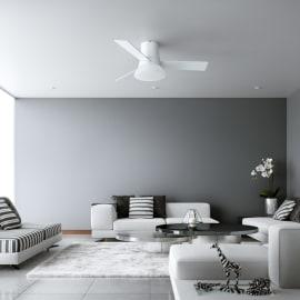 Ventilatore da soffitto Tivan0 bianco, in acciaio diam. 112cm, con telecomando, INSPIRE