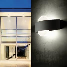 Applique Dexter LED integrato in alluminio, grigio, 10W 500LM IP54