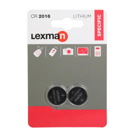 Batteria al litio CR2016 / DL2016 LEXMAN 844958 2 batterie