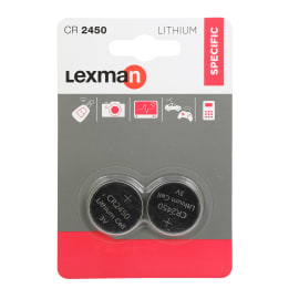 Batteria al litio CR2450 / DL2450 LEXMAN 844980 2 batterie