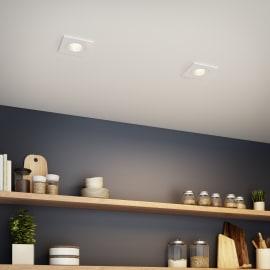 Faretto orientabile da incasso quadrato Dennis in alluminio, bianco, 5.5x8.2cm LED integrato 7W 770LM IP23 INSPIRE