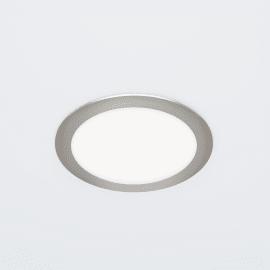 Faretto fisso da incasso tondo Exflat in alluminio, nichel, diam. 17 cm LED integrato 20W 2100LM IP20 INSPIRE