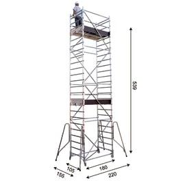 Trabattello FARAONE Rapido System in alluminio per lavori fino a 5.39 m