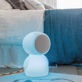 Lampada da tavolo BOY H30cm, in plastica, LED integrato IP44