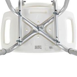 Sgabello Secura in alluminio bianco